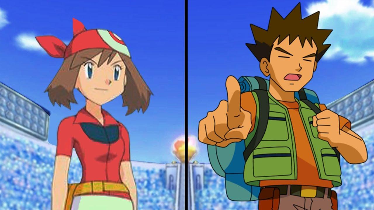 Pokemon Characters Battle: May Vs Brock (Hoenn Vs Kanto ...
