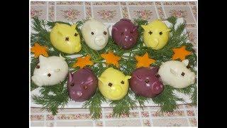 """фаршированные яйца """" веселые поросята"""""""
