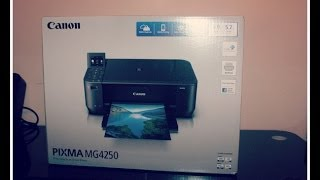 CANON PIXMA MG4250 Wireless All-in-one Inkjet Printer - Unboxing [HD]