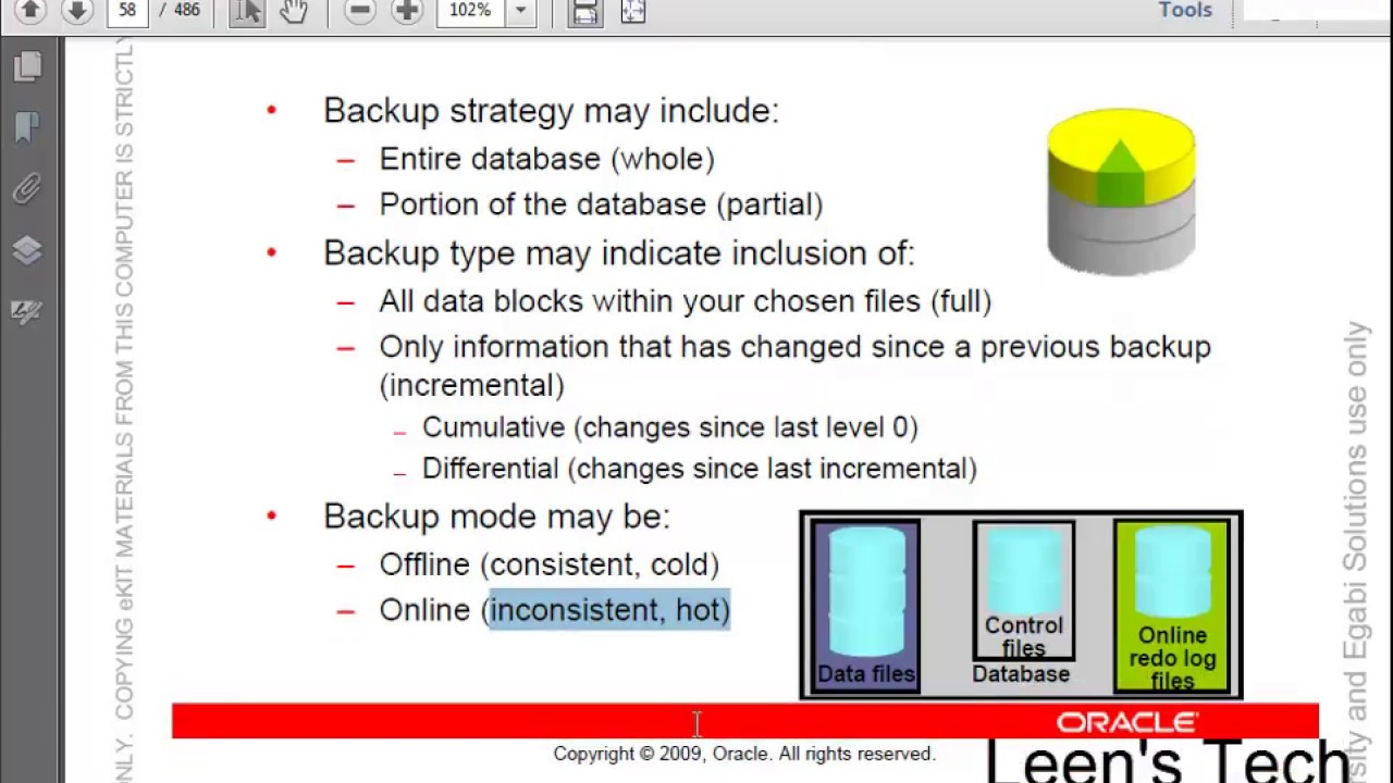 Oracle DBA 11g Tutorial in Bangla: Lesson#15 Performing Database Backups