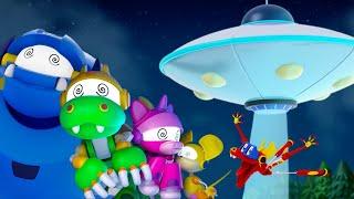 Animal Mechanicals | EP 4: Die UFO Invasion | Cartoons für Kinder | WildBrain