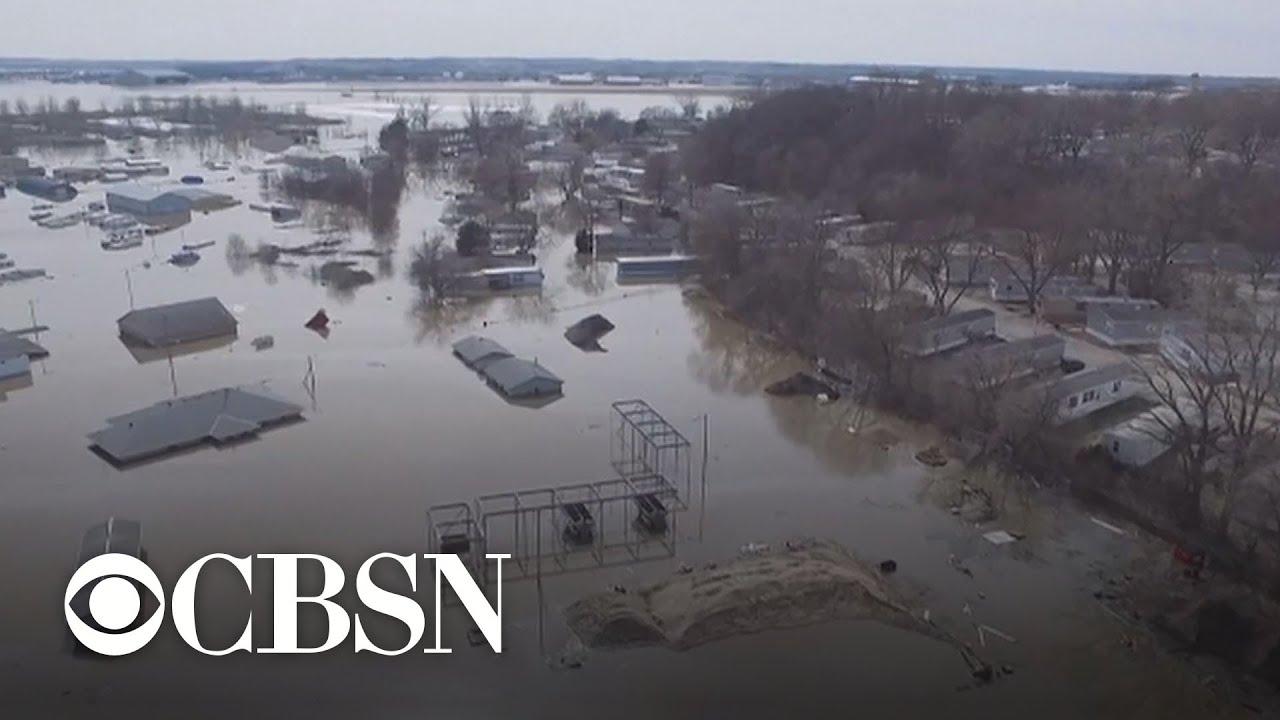 Midwest floods severely damage farmland and kills livestock