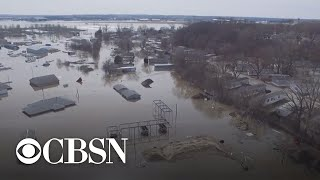 Midwest floods severely damage farmland and kills livestock
