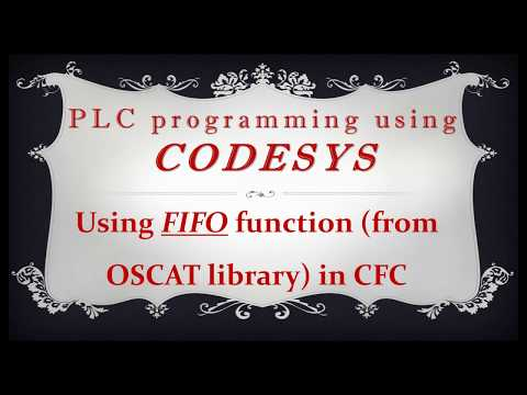 CODESYS: FIFO function block (from OSCAT library) in CFC