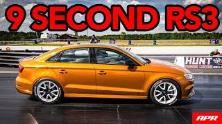 Keith Brantley's APR Tuned RS3 Runs 9's in the Quarter Mile