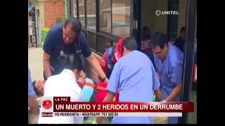 La Paz: Un muerto y dos heridos tras el derrumbe de un muro de contención