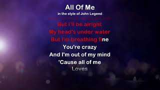 All Of Me - ProTrax Karaoke Demo