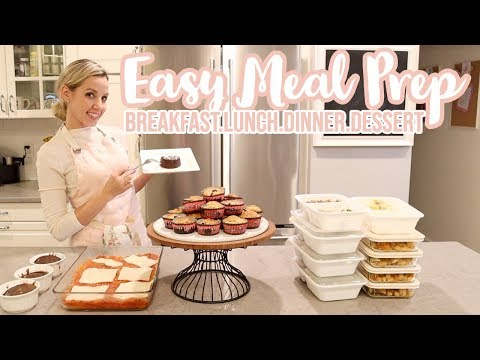 ULTIMATE MEAL PREP //BREAKFAST, LUNCH, DINNER + DESSERT // COOK WITH ME EASY HEALTHY MEAL PREP
