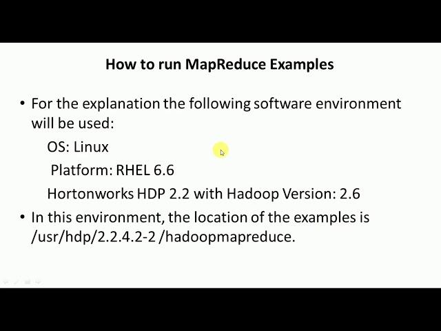 How to Run Hadoop MapReduce Examples - Big Data Analytics Tutorial by Mahesh Huddar