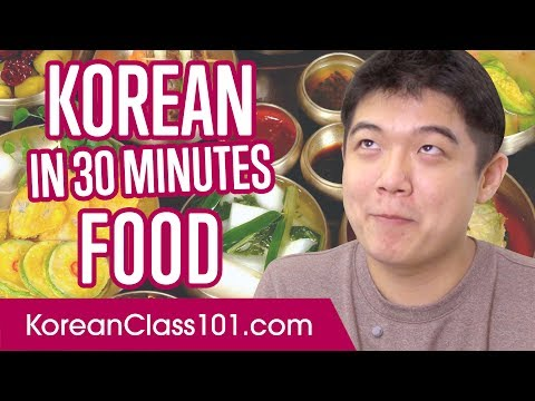 Learn Korean in 30 Minutes - ALL Food and Restaurants Phrases You Need