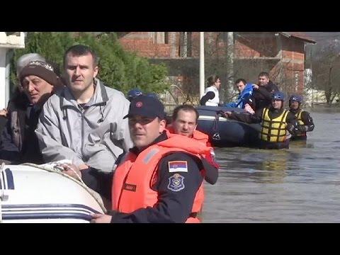 Rain-swollen rivers flood central Serbia