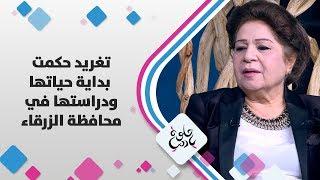 تغريد حكمت - بداية حياتها ودراستها في محافظة الزرقاء