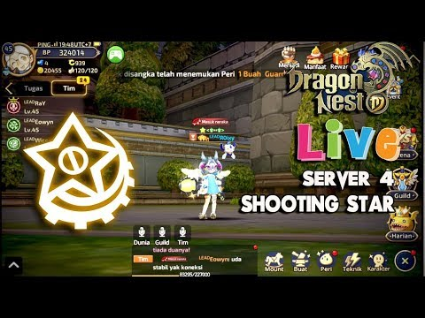 Live Bentar S4 !!!  SDN HELL !!! Dragon NEST M - Lv 46 Shooting Star Gameplay