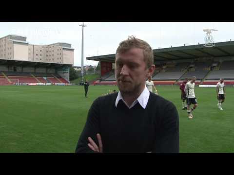 CaleyJagsTV : Richie Foran Post Match v Partick Thistle : 06/08/2016