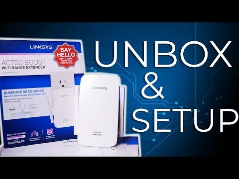 Linksys AC750 RE6300 Wi-Fi Extender Unboxing, Setup and Review