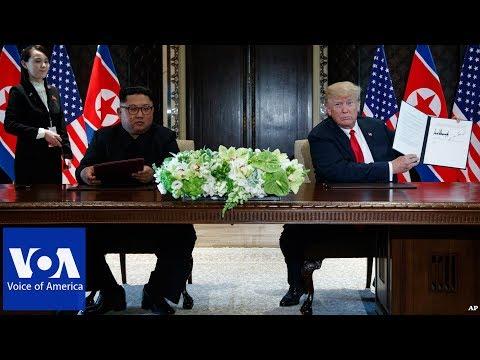 Singapore Summit: Trump-Kim Signing Ceremony