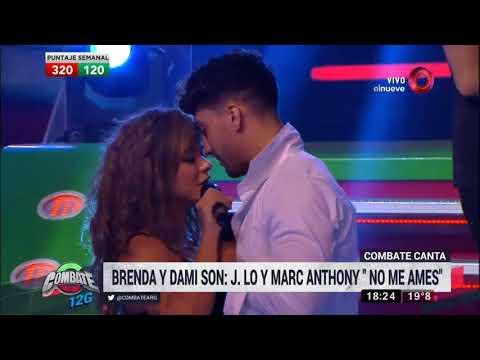 Brenda y Dami son JLo y Marc Anthony en el Combate Canta