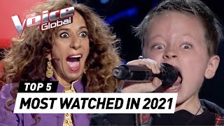 The Voice Kids Spain 2021: MOST TRENDING Blind Auditions 🇪🇸
