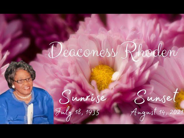 08-21-2021 - Deaconess Rhoden Home Going Service