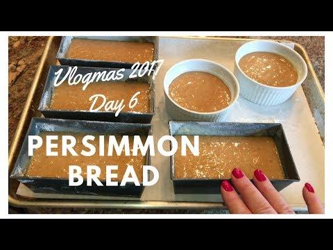 Holiday Baking | Persimmon Bread | Vlogmas Day 6