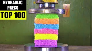 Top 100 Best Hydraulic Press Moments ASMR VERSION | PURE SOUND | Satisfying Crushing Compilation