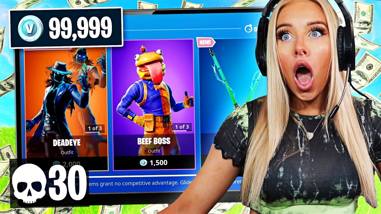 1 Elimination = 1 GIFT from the ITEM SHOP in Fortnite - Challenge w/ DUO