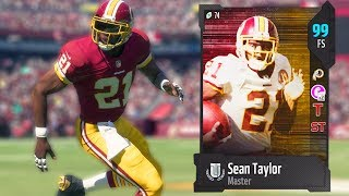 99 OVERALL SEAN TAYLOR! BEST CARD IN THE GAME! MADDEN 18 ULTIMATE TEAM thumbnail