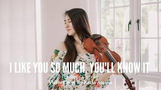 I Like You So Much, You'll Know It (我多喜欢你,你会知道 ) Violin Cover by Kezia Amelia