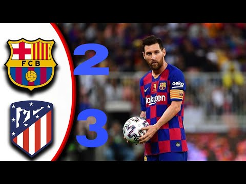 BARCELONA 2 V 3 ATLETICO MADRID | SUPER CUP (10/01/2020) ALL GOALS