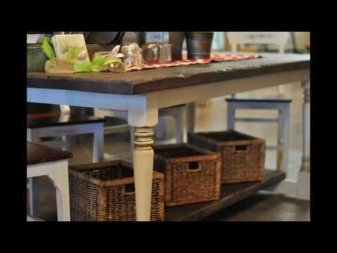 antique-counter-height-table-with-storage