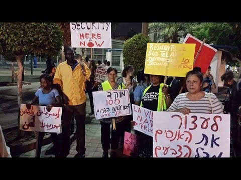 Asylum seekers and South Tel Aviv residents marching for safty & end of exclusion