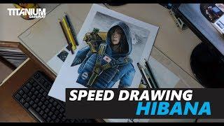 SPEED DRAWING - Desenhando HIBANA | Rainbow Six