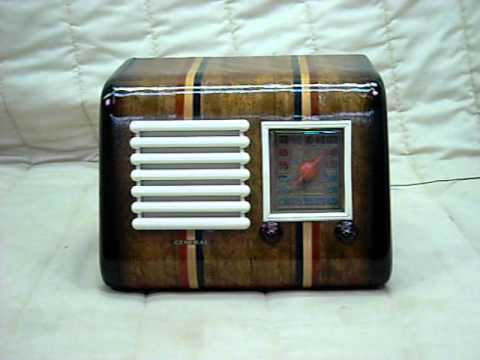 1940 General Television Model 525 Old Antique Wood Tube Radio
