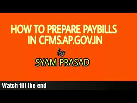 HOW TO PREPARE PAYBILLS IN CFMS