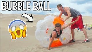 BUBBLE BALL vs SAND DUNES!