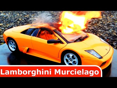 Lamborghini Murcielago Diecast Car Toy is BURNING! Its on Fire!!!