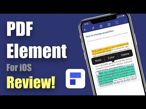 Free PDF Editor App On IPhone - PDFelement - Review!