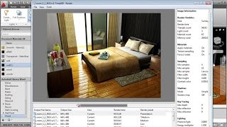 Autocad Rendering Settings   Interior Bedroom