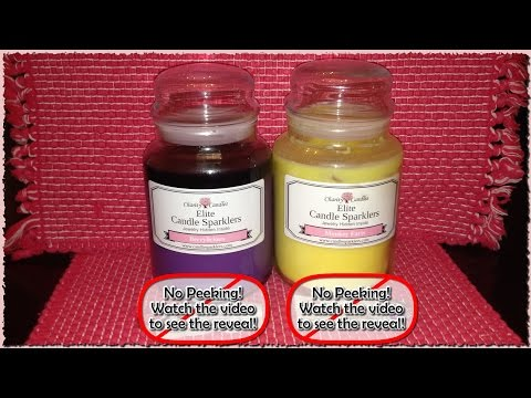My 1st DOUBLE Review & Reveal of Elite Candle Sparklers by Charity Candles