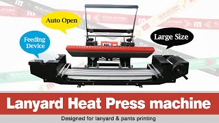 How to use mecolour 25x100cm lanyard heat press machine for double side ribbons printing?