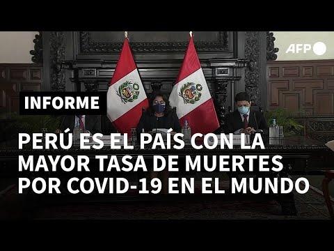 Perú registra mayor tasa mundial de muertes por covid-19 tras revisar cifras de fallecidos | AFP
