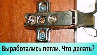 Выработались петли. Как отрегулировать дверцу шкафа.(Чаще всего у мебели вырабатываются верхние петли. Если нечем заменить, достаточно поменять их местами...., 2014-12-01T16:56:56.000Z)