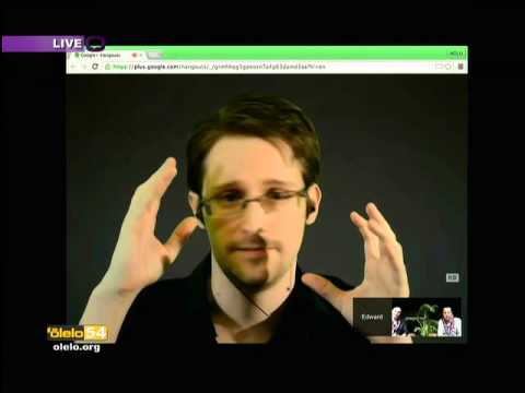Edward Snowden on the First Amendment: Livestream in Hawaii