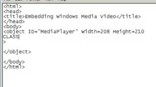 How to add video or audio to your website using notepad(In this tutorial I will demonstrate, using notepad, how to create a web page, write an object tag for publishing a windows media video or audio file to your site., 2009-04-16T13:41:22.000Z)