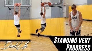 "Standing Vert Hang Progress  - 5'10"" #448 Dunk Journey 2.0 #DunkLife Video"