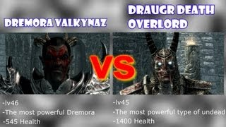 Skyrim Battle - Strongest Undead vs Strongest Dremora & and more! - Requested Battles!