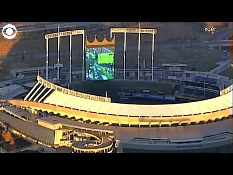 Wells Adams - People Playing Mario Kart On Kauffman Stadium Jumbotron