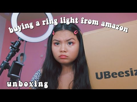 buying-a-ring-light-from-amazon-//-unboxing-[-ubeesize-]