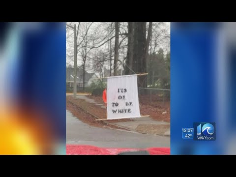 Controversial sign outside Virginia Beach middle school