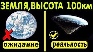 Какая форма земли с высоты 100 км? Шар или блин?